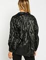 Atikshop Crinckle Faux Leather Top