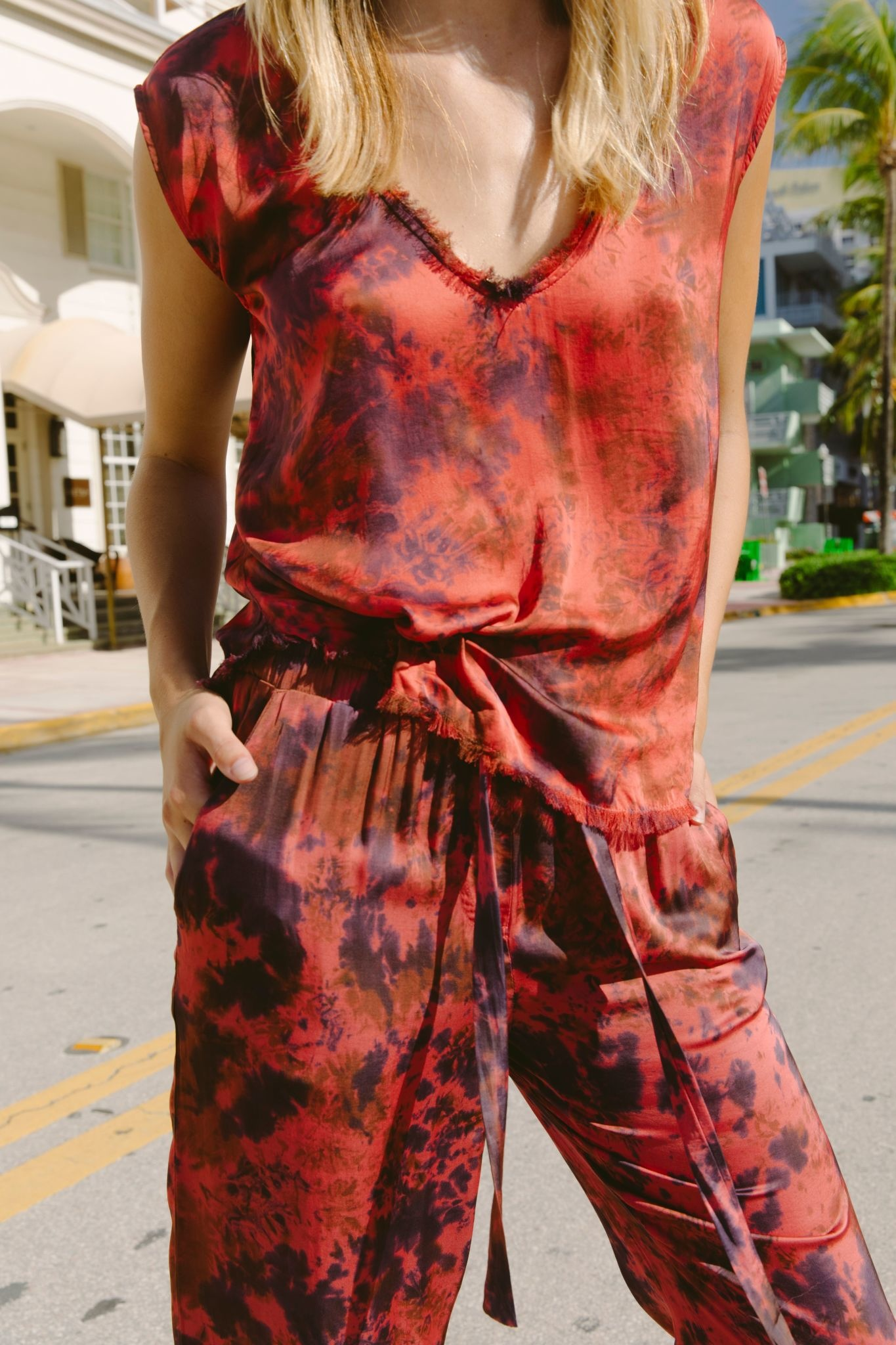 Seek The Label Fray Tye Dye Top