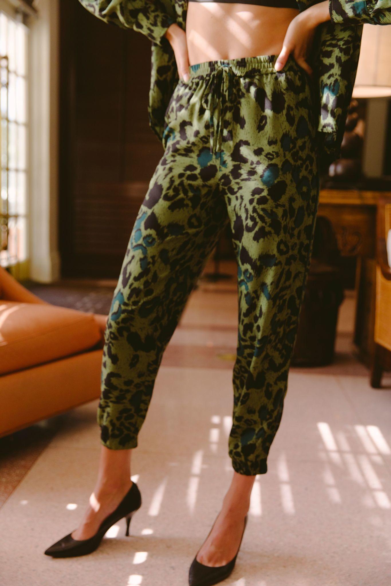 Seek The Label Leopard Print Joggers
