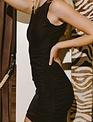 Seek The Label Alexa Side Drawstring Mini Dress