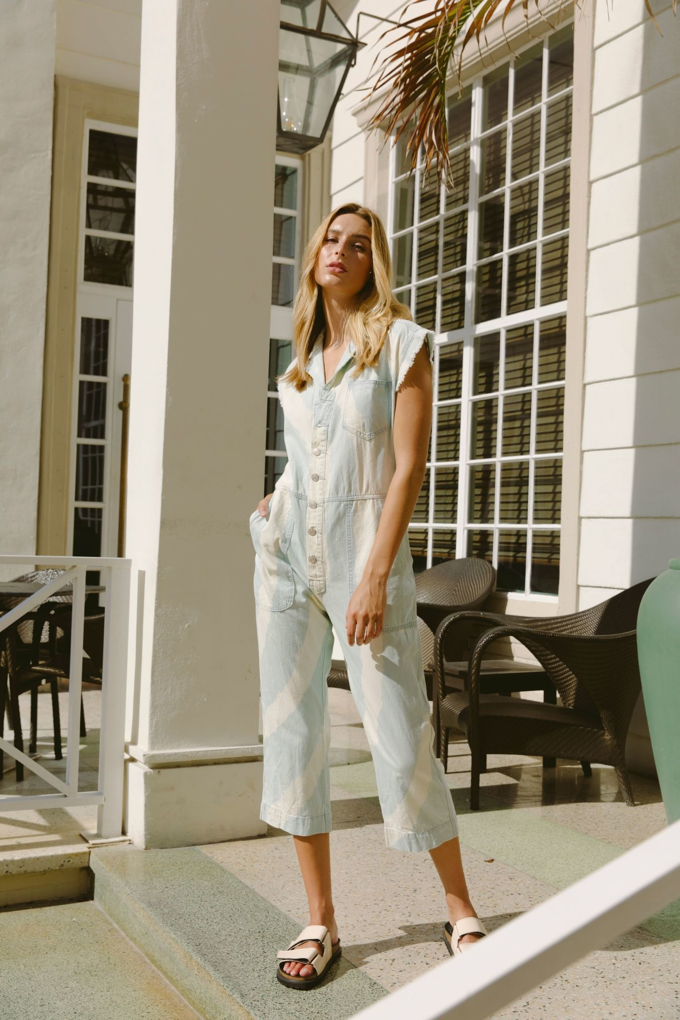 Seek The Label Bleached Tye Dye Jumpsuit