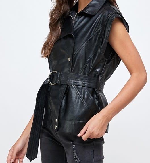 Seek The Label Faux Leather Vest