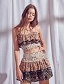 Seek The Label Samantha Floral Mini Skirt