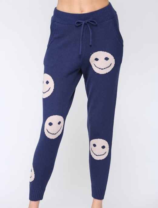 Seek The Label Happy Face Knit Jogger