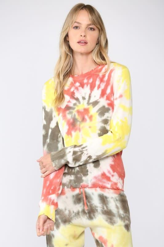 Seek The Label Tie Dye Distressed Sweater