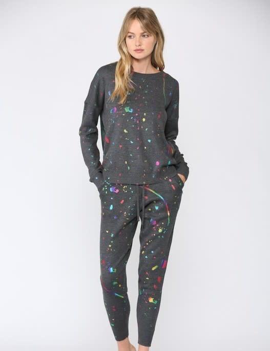 Seek The Label Foil Splatter Knit Jogger