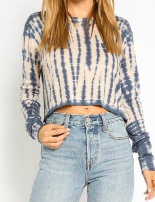 Atikshop Tie Dye Cropped Sweater