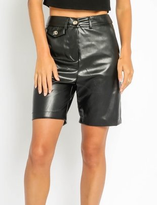 Atikshop Vegan Leather Biker Short