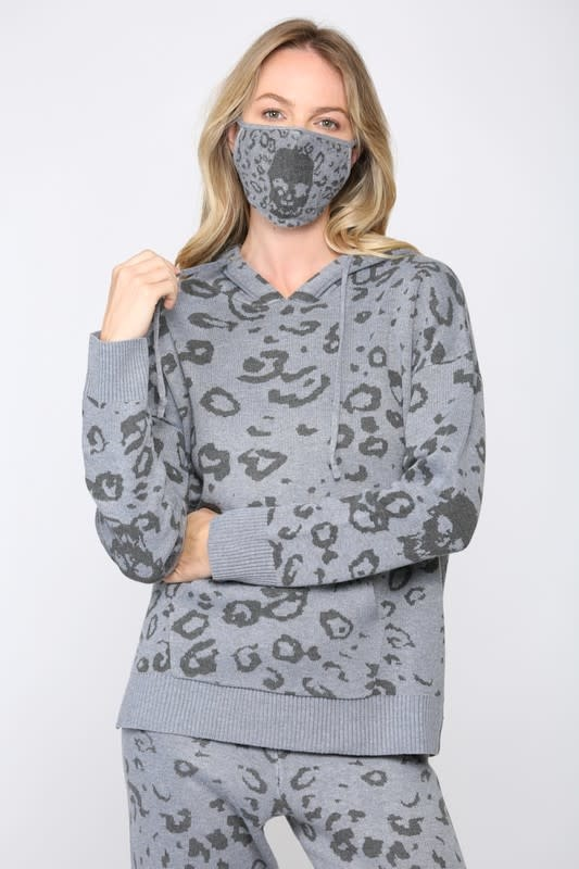 Seek The Label Skull Knit Hoodie