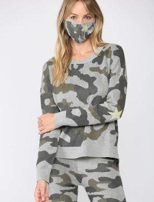 Seek The Label Camo Crew neck Sweater