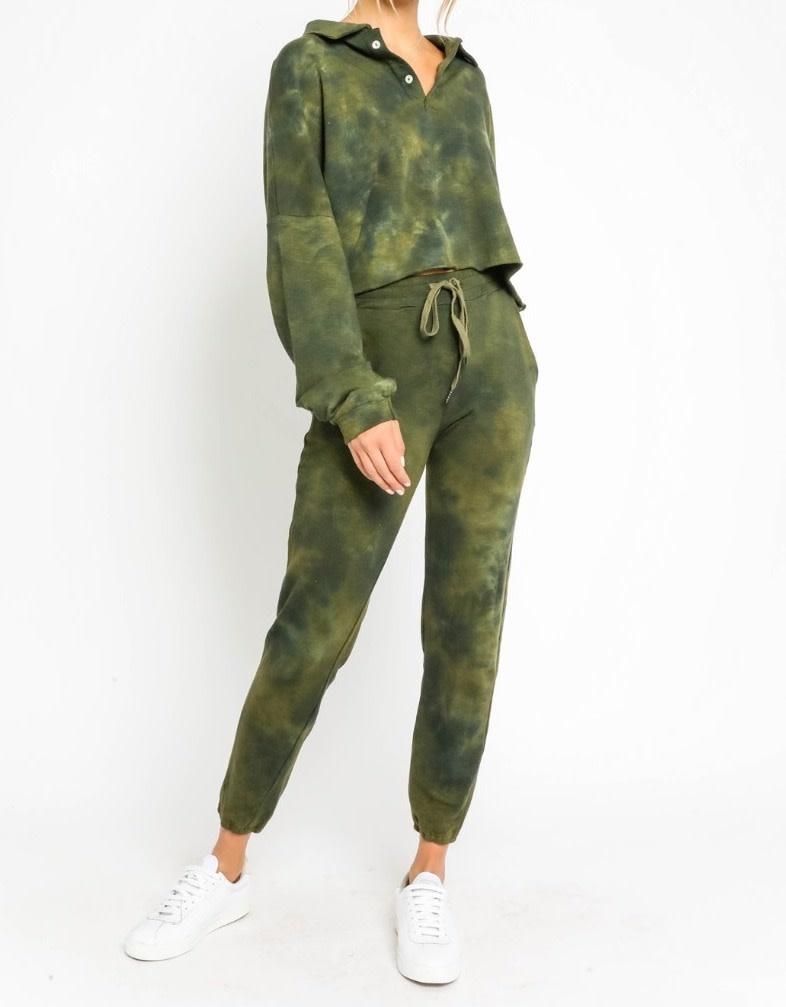 Seek The Label Tie Dye L/s Cropped Sweatshirt