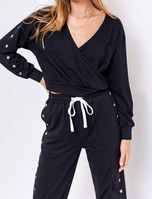 Seek The Label Star Embroidery Sweatshirt