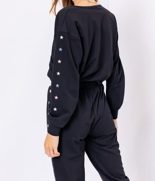 Seek The Label Star Embroidery Sweatshirt