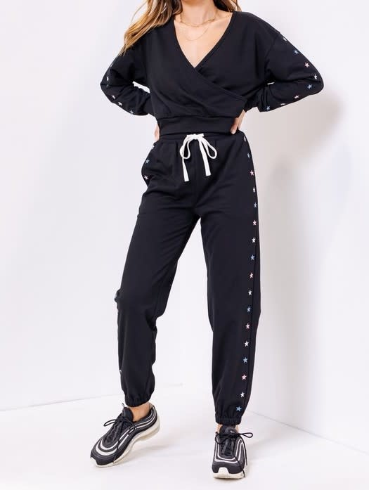 Seek The Label Star Embroidery Sweatpants
