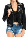 tops Studded Suede Jacket