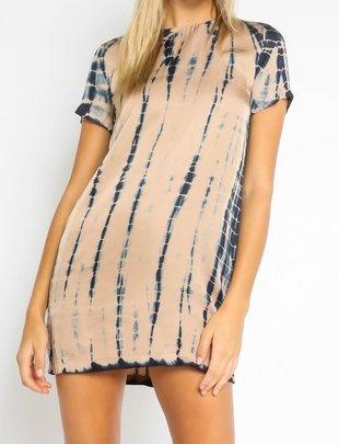Atikshop Tie Dye Shift Mini Dress