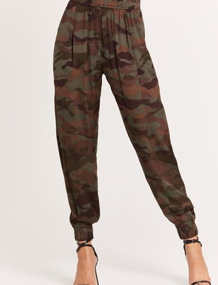 Seek The Label Satin Camo Pants