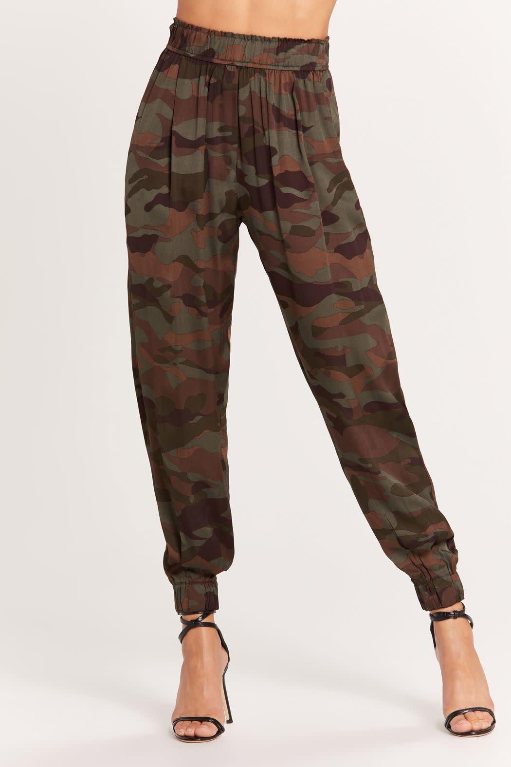 Seek The Label Satin Camo Pants