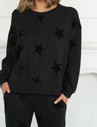 Atikshop Star Flocking Sweatshirt