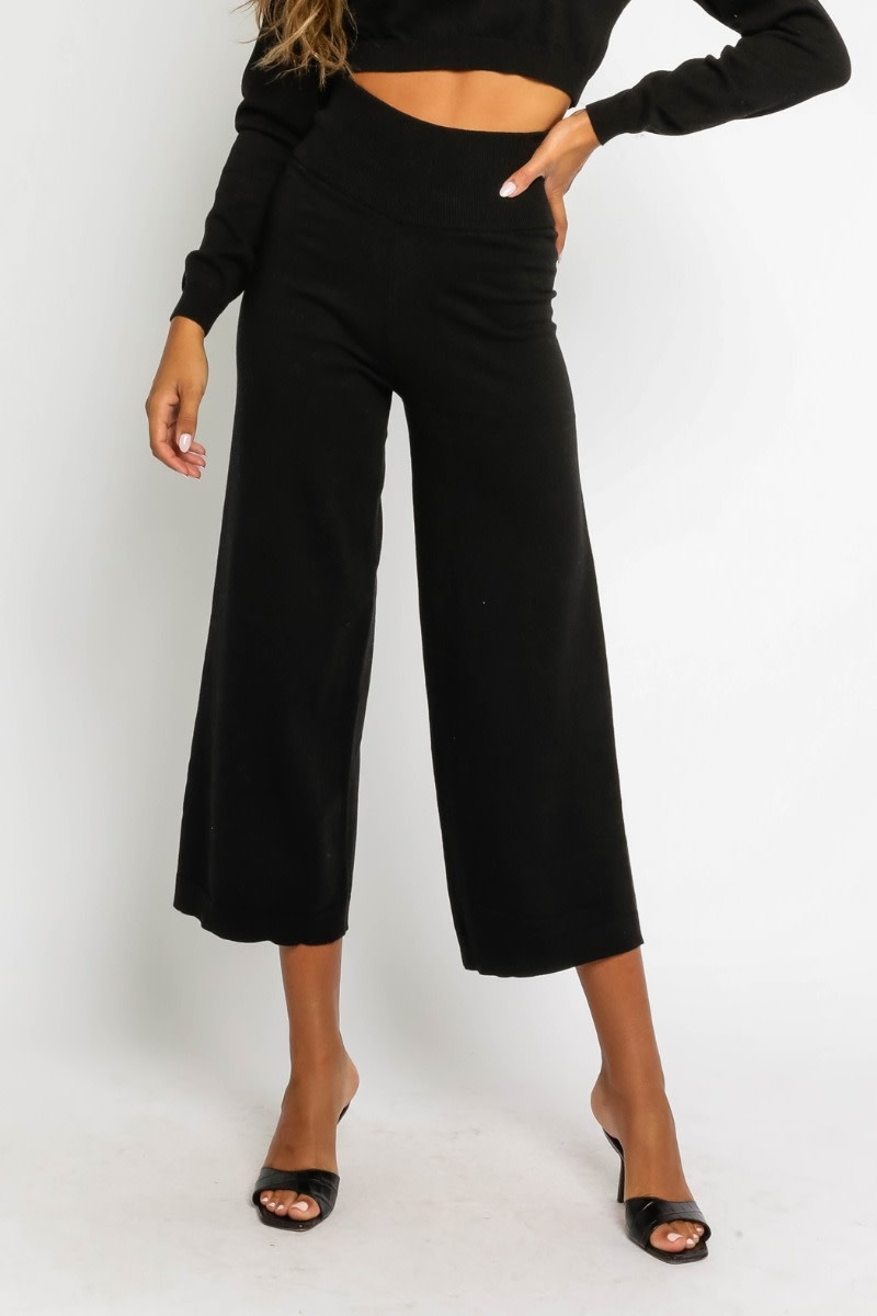 Atikshop High Waisted Knit Pants