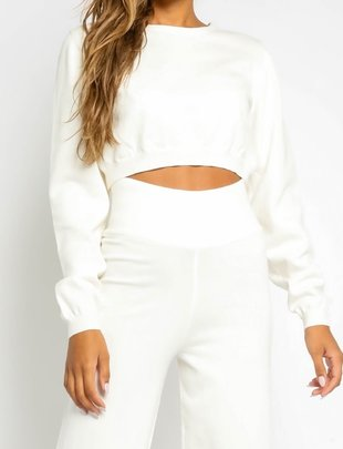 Atikshop Cropped Crew Neck Sweater