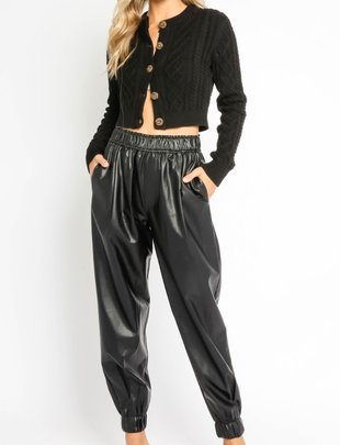 Atikshop Faux Leather Jogger