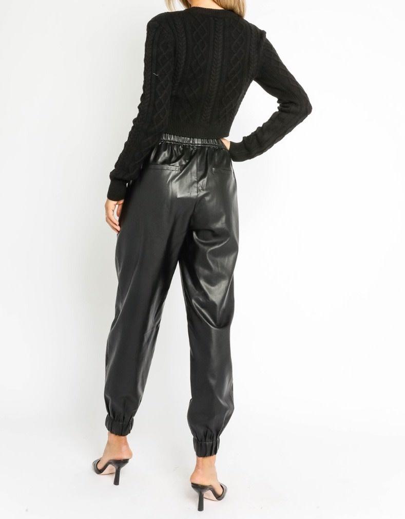 Atikshop Faux Leather Jogger