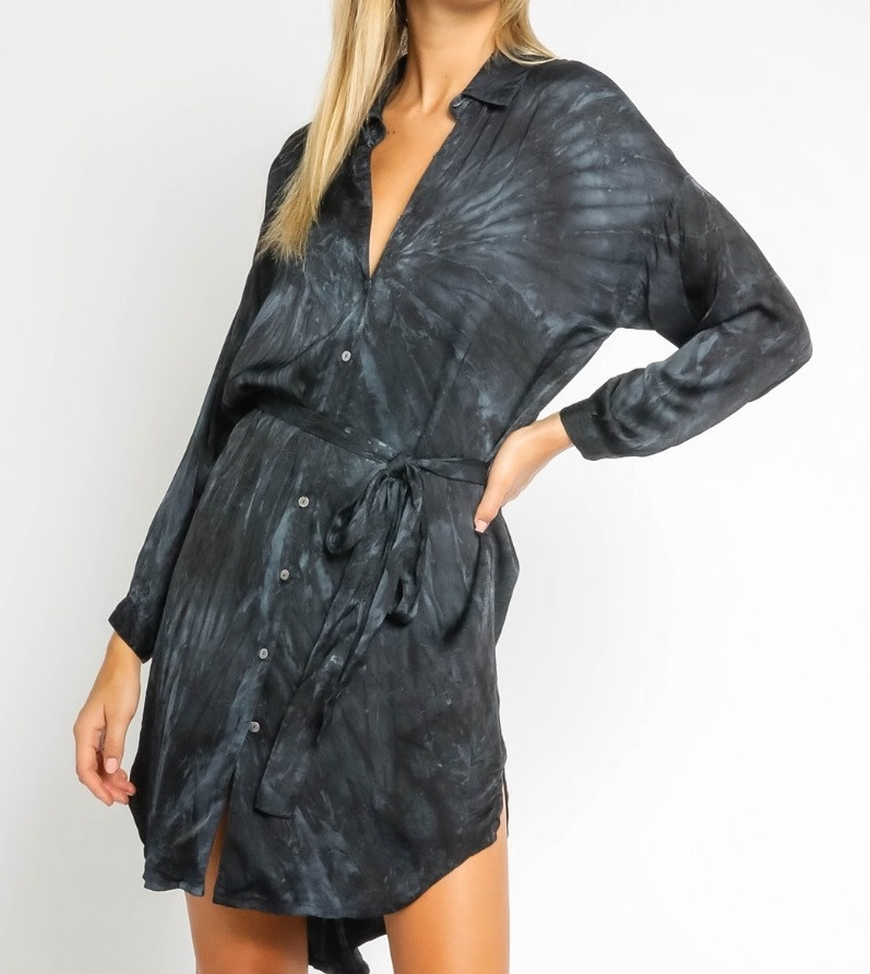 Atikshop Tie Dye Shirt Dress