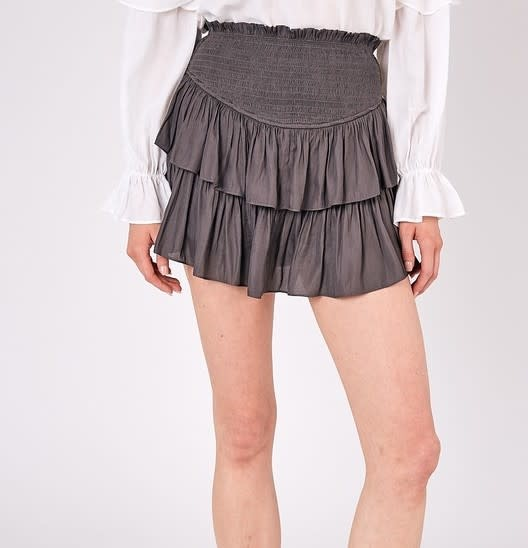 Atikshop Smocked Mini Skirt