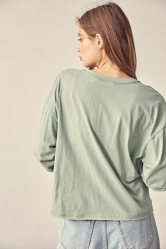 Atikshop V-Neck Knotted Sweatshirt
