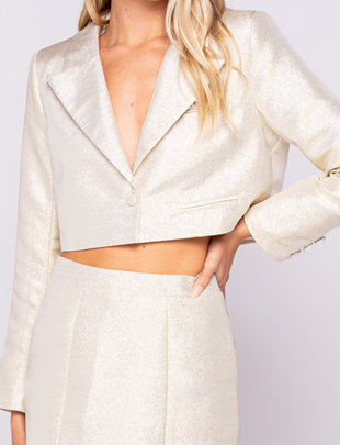 Seek The Label Metallic Cropped Jacket