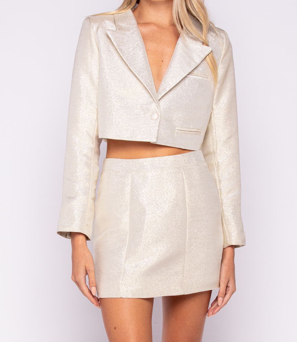 Seek The Label Metallic Mini Skirt