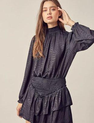 Seek The Label Ruffle Mini Dress W/Smocking