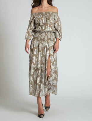 Atikshop Georgia Lurex Maxi Dress