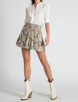 Atikshop Georgia Lurex Mini Skirt