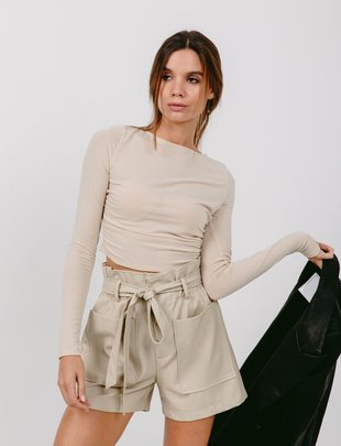 Seek The Label Faux Leather HW Short