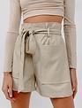 Seek The Label Faux Leather HW Short