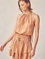 Atikshop Halter Ruffle Mini Dress