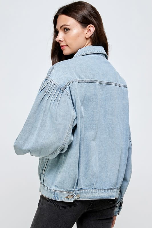 Seek The Label Tucked Oversized Denim Jacket