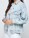 Atikshop Oversized Pleat Denim Jacket