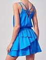 Atikshop Cross Back Ruffle MIni Dress