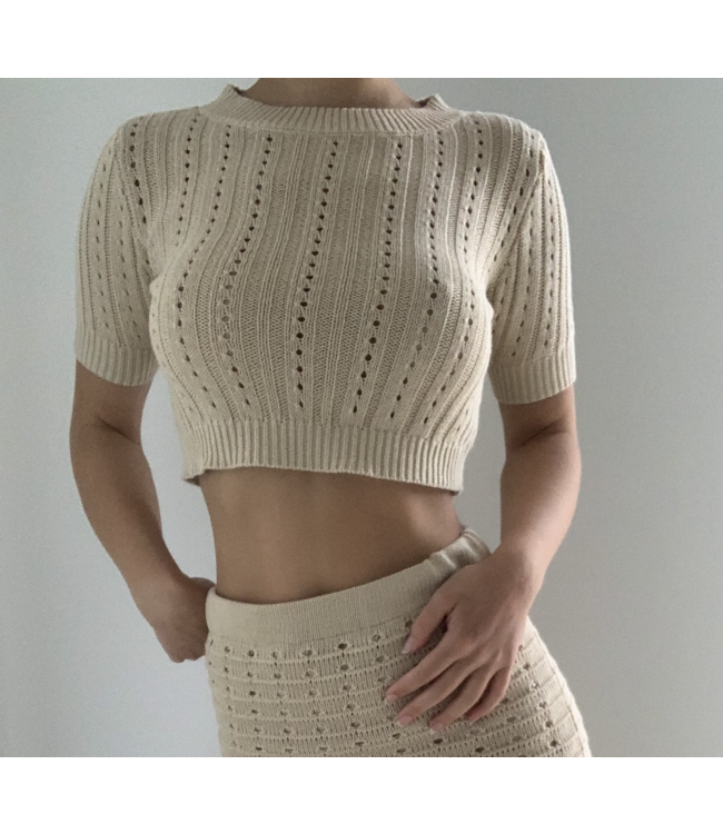 Seek The Label Sweater Knit Top