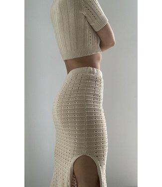 Seek The Label Knit Maxi Skirt W/Slit