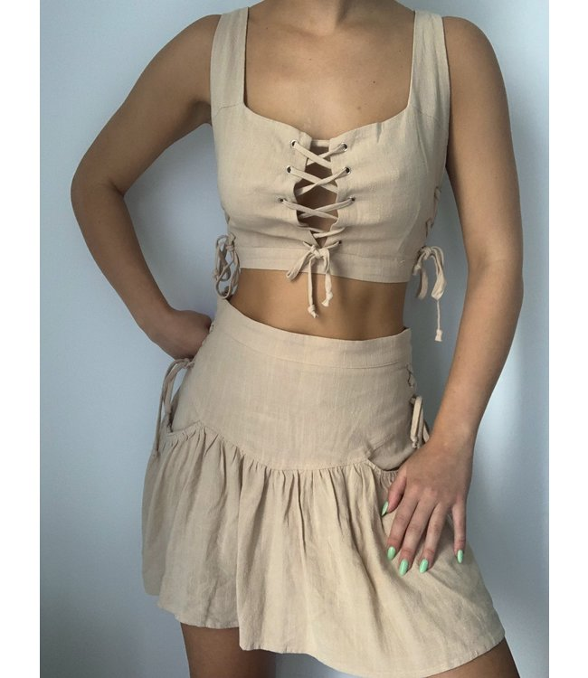 Seek The Label Amber Lace Up Top