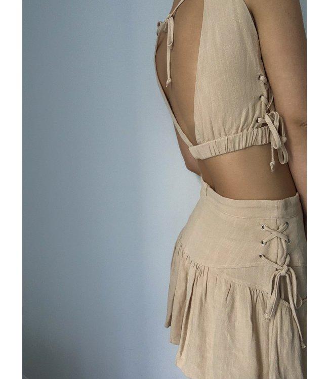 Seek The Label Amber Lace Up Mini Skirt