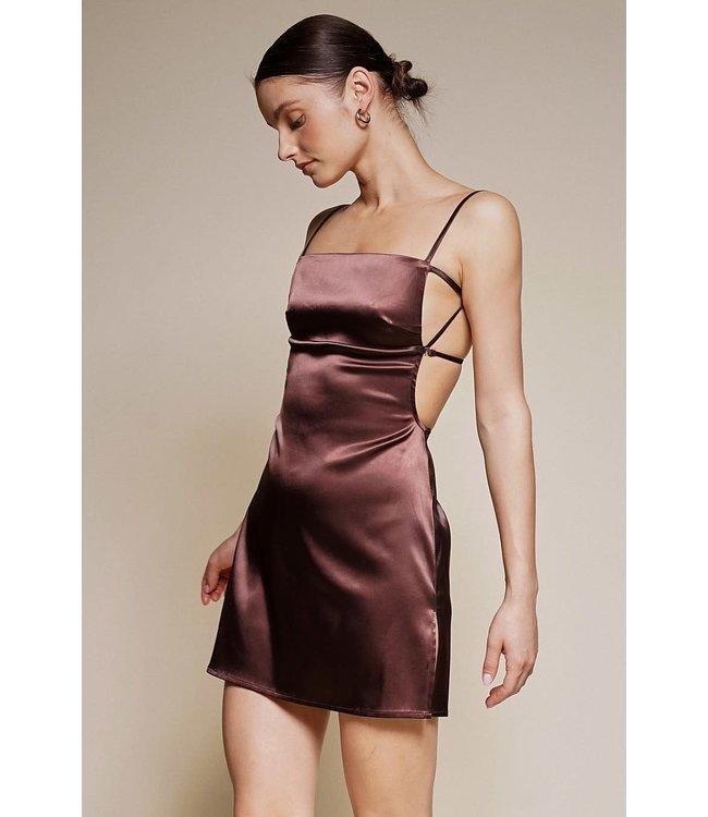 Seek The Label Satin Backless Mini Dress