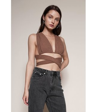 Seek The Label Knit Backless Crop Top