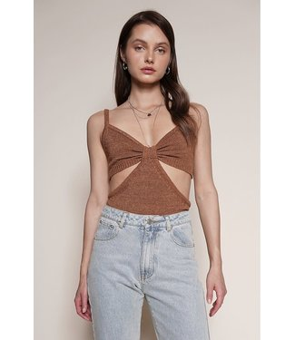 Seek The Label Knit Cut Out Top