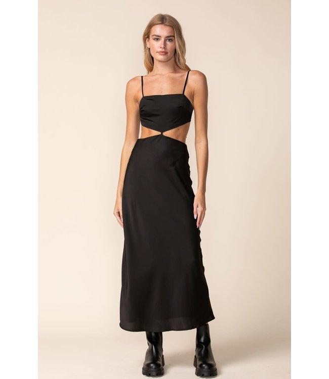 Seek The Label Satin Open Side Midi Dress