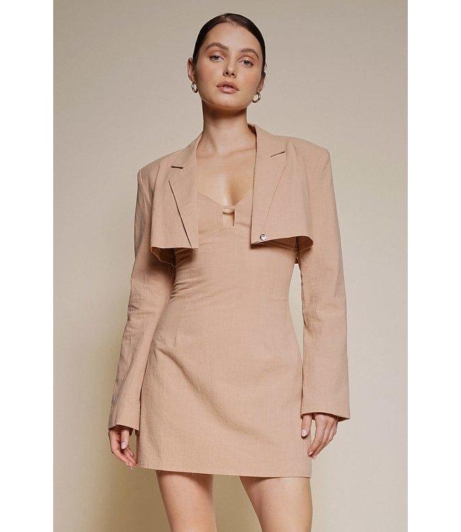 Seek The Label Cropped Jacket Mini Dress